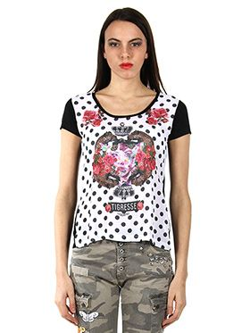 T-SHIRT IN RAYON E VOILE