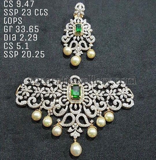 Diamond South Indian Jewellery: Trendy Diamond Choker 7 Lakhs Worth