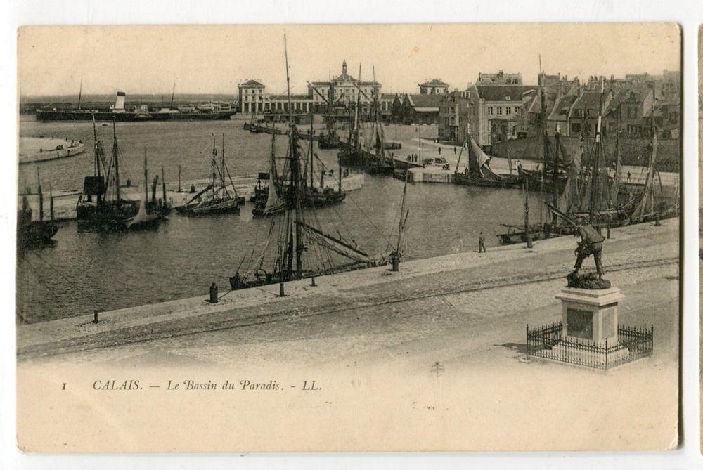 Old Antique Vintage Postcard CALAIS France Europe