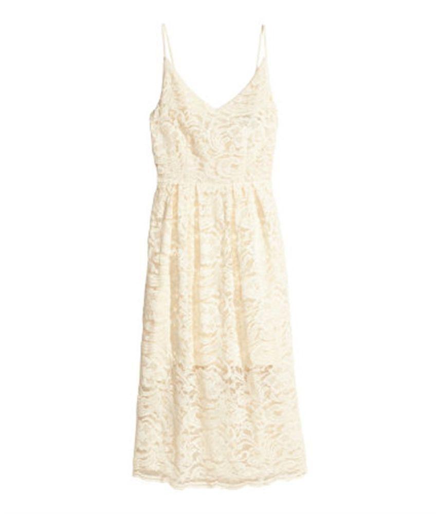 H M Natural White Lace Dress Size 16 Free Shipping Hm