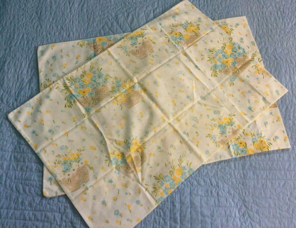 Vintage Sears Perma Prest Pillowcase