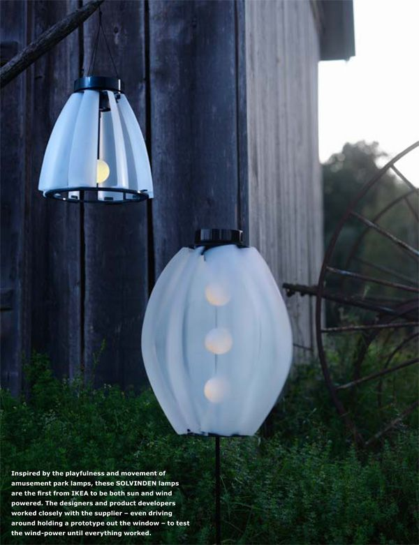Solarvind Lights By Ikea Solar And Wind Powered Perfect For Haiti Ikea Outdoor Wind Power Solar Powered Garden Lights