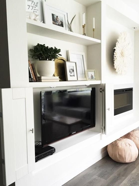 5 Ways To Make Your Tv Less Conspicuos Rc Willey Blog Built In Shelves Living Room Living Room Built Ins Tv Built In