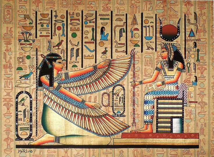 Ancient Egyptian Art on Egyptian Papyrus. Unique Handmade Art For ...