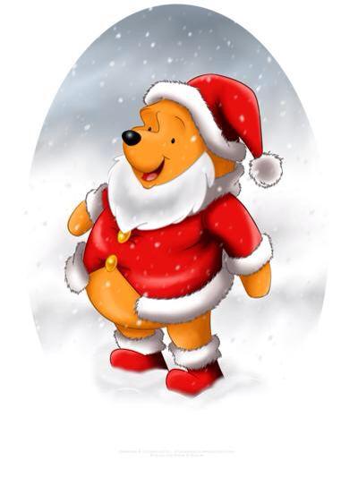 The cutest Santa ever Winnie the Pooh!! Pinterest