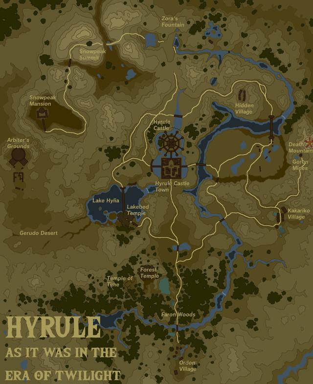 Full Botw Map : Popular, Demand,, Created, BOTW-style, Topography, Twilight, Princess, Zelda, Legend, Memes,