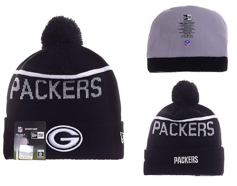 cf348e43ebc Mens   Womens Green Bay Packers New Era 2016 NFL Sideline Sport Knit Beanie  Hat With Pom Pom - Black   White