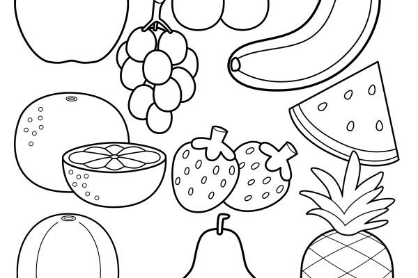 You Searched For Healthy Food Coloring Pages Happiness Is