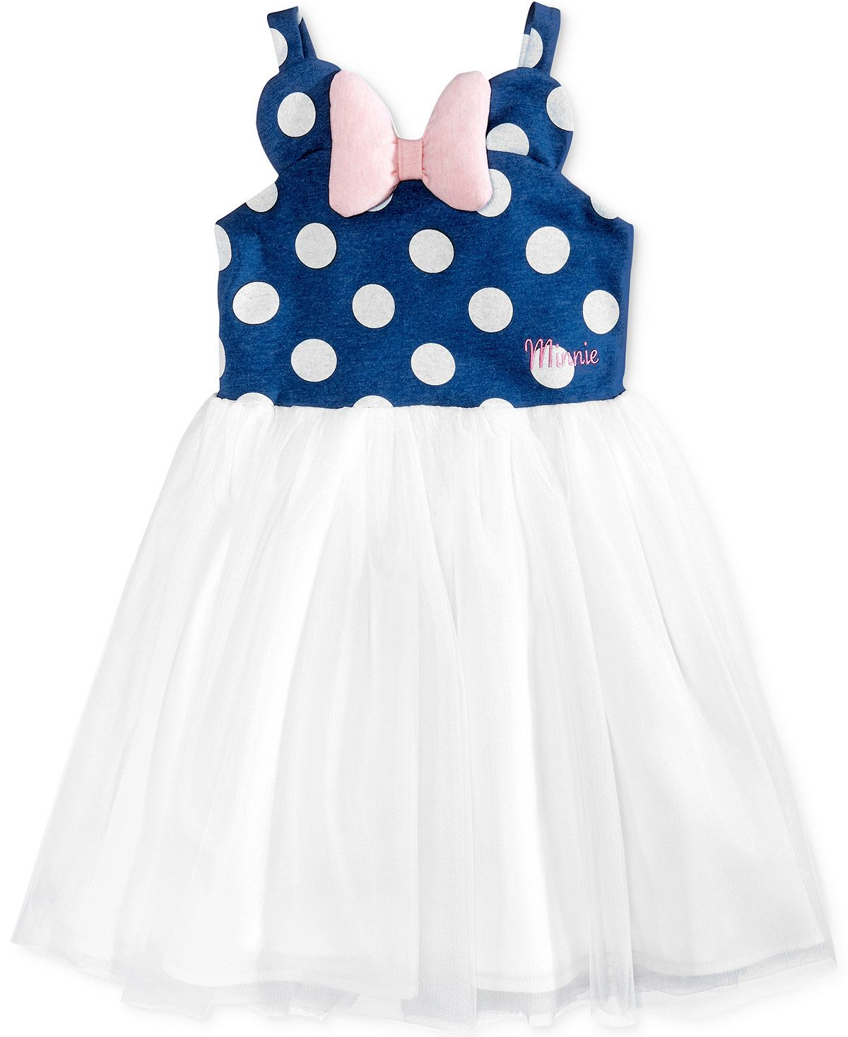 549ce2c3d88c Disney's® Minnie Mouse Polka Dot & Mesh Dress, Toddler & Little Girls  (2T-6X) - Girls 2-6X - Kids & Baby - Macy's