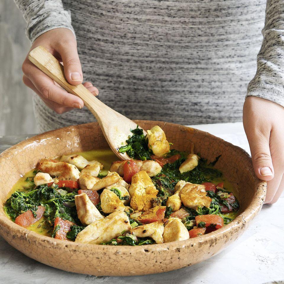 Gemüsecurry mit Hähnchenbrust