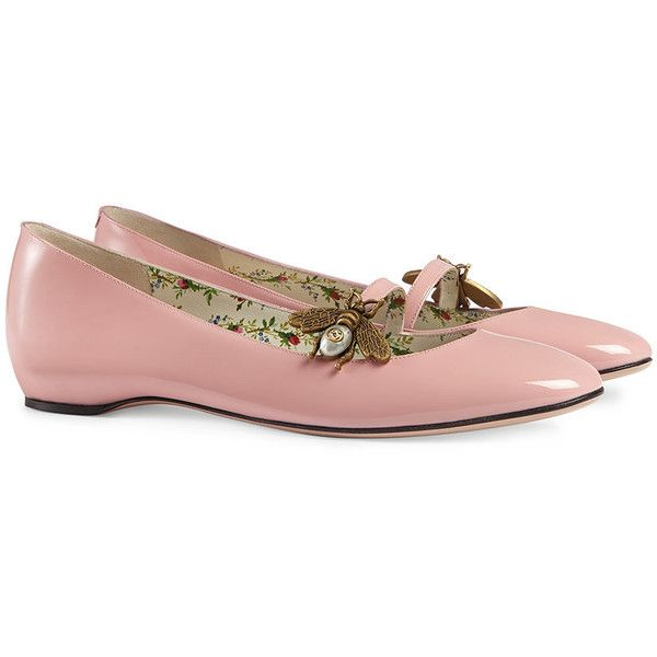YmHequoXM7 Patent leather ballet flat with bee zgrO2K