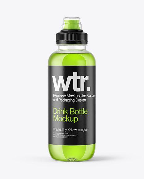 Energy Drink Bottle With Sport Cap Mockup In Bottle Mockups On Yellow Images Object Mockups Mockup Free Psd Blue Water Bottles Bottle Mockup