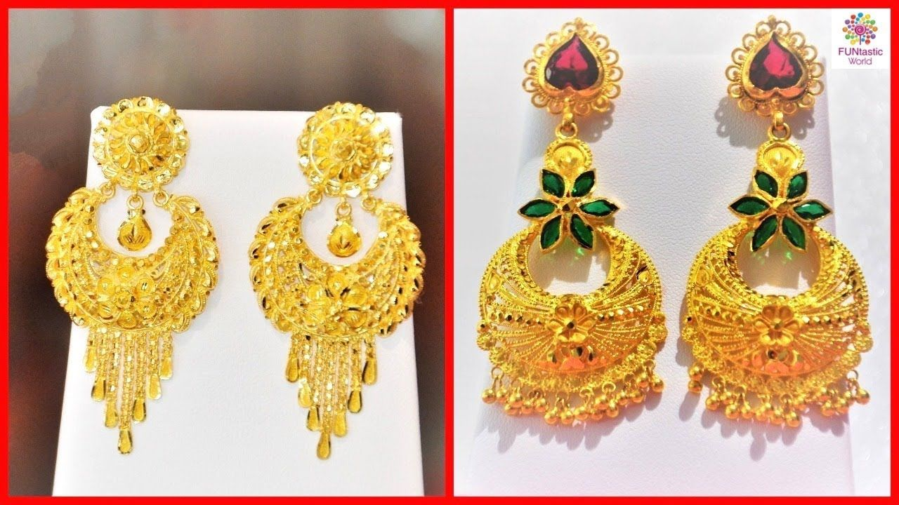 Latest Gold Jhumka Earrings Designs With Weight Price 22k