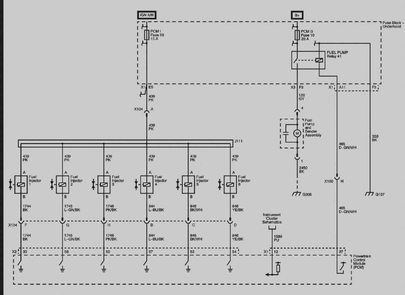 Electronic Fuel Injection Wiring Diagram
