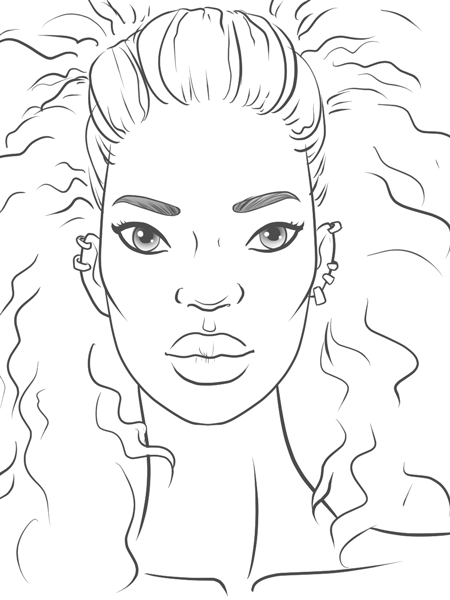 How To Draw A Black Girl Step By Step : black