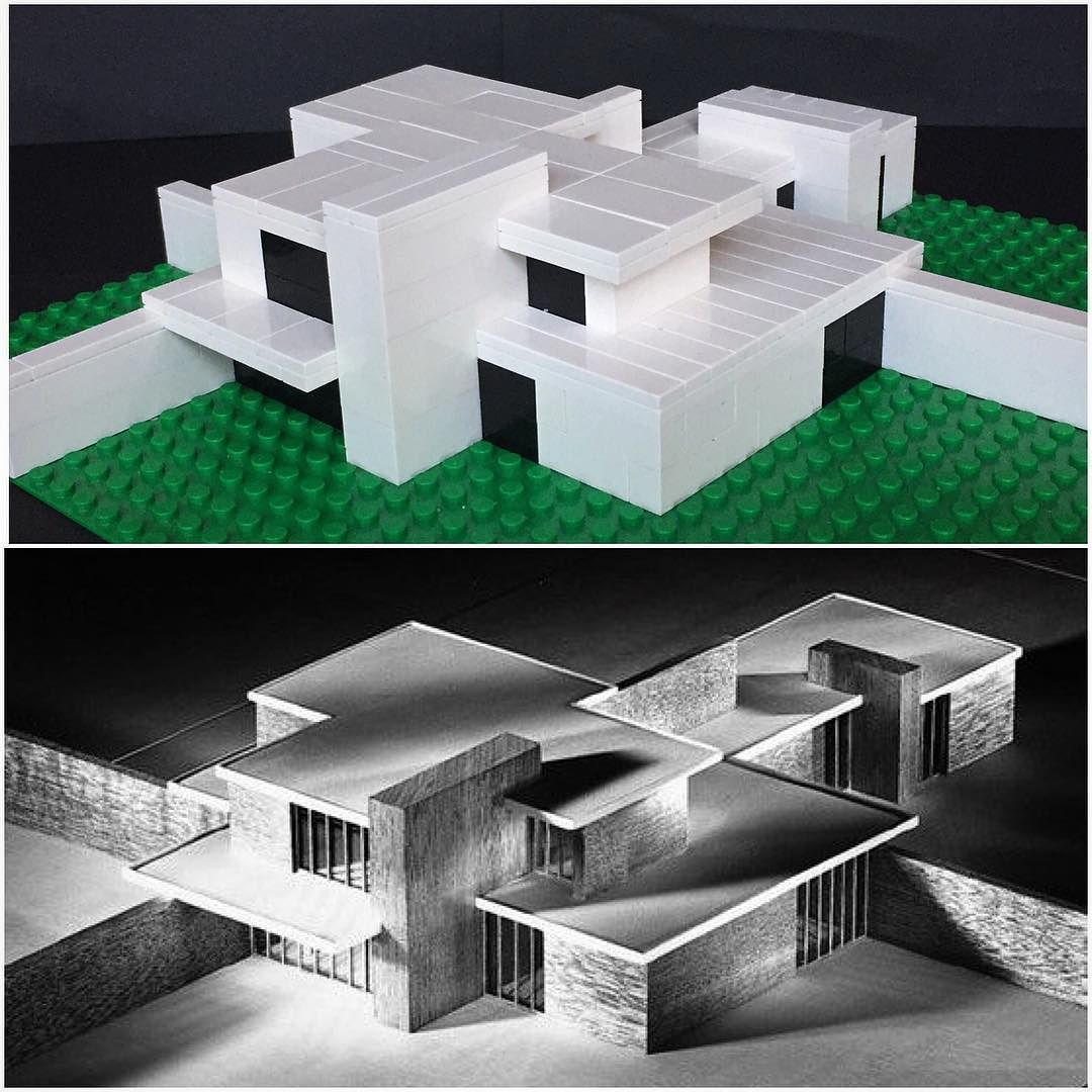 My Lego version of the unbuilt Brick Country House  by Ludwig Mies van der Rohe. It would have benefited from larger scale but I was limited in time. I found the reference CAD pic on pinterest and have no idea who to credit for that unfortunately.  #lego #architecture #legoarchitecture #miesvanderrohe by askansbricks