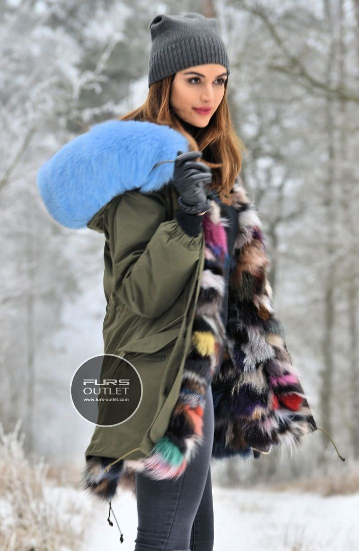 d659aa3eceb AMERICAN PARKA WITH FUR - top trendy american army parka with fox fur - coat  - furs outlet