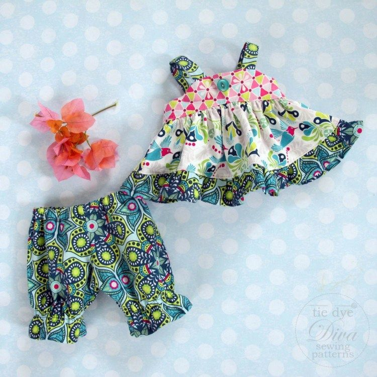 FREE Doll Dress Pattern - Riley Blake Flit & Bloom Blog Tour #dolldresspatterns