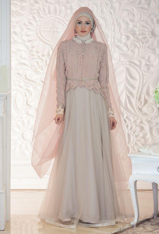 Gamis Pesta Elegan Gaun Muslim Mewah Pinterest Dresses Hijab