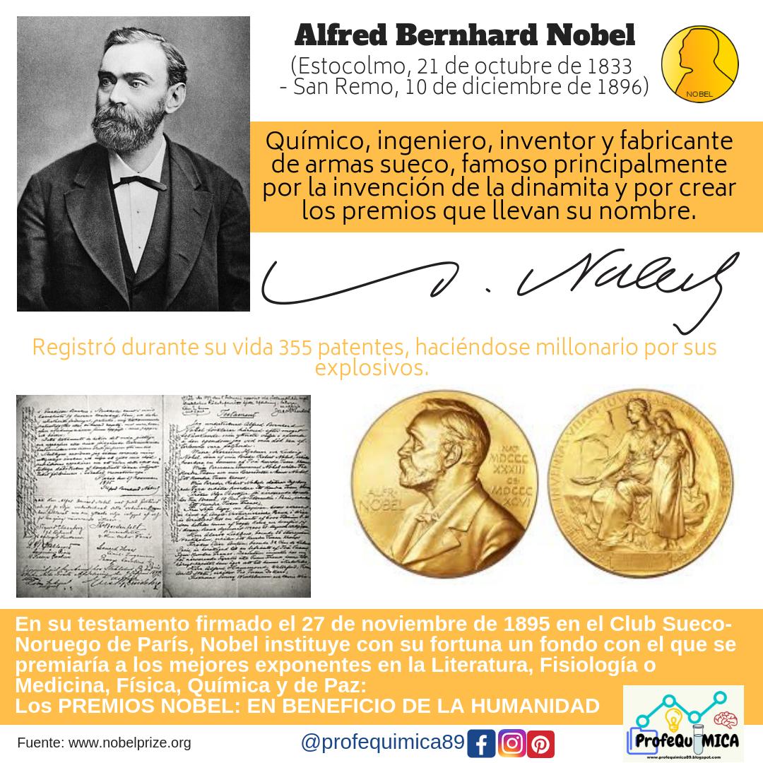 Profequímica Alfred Nobel Alfred Nobel Vida Chemistry