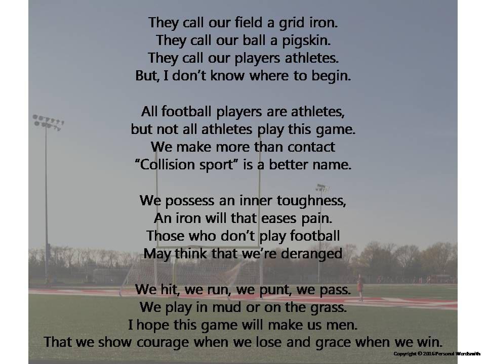 Athlete Poems 3