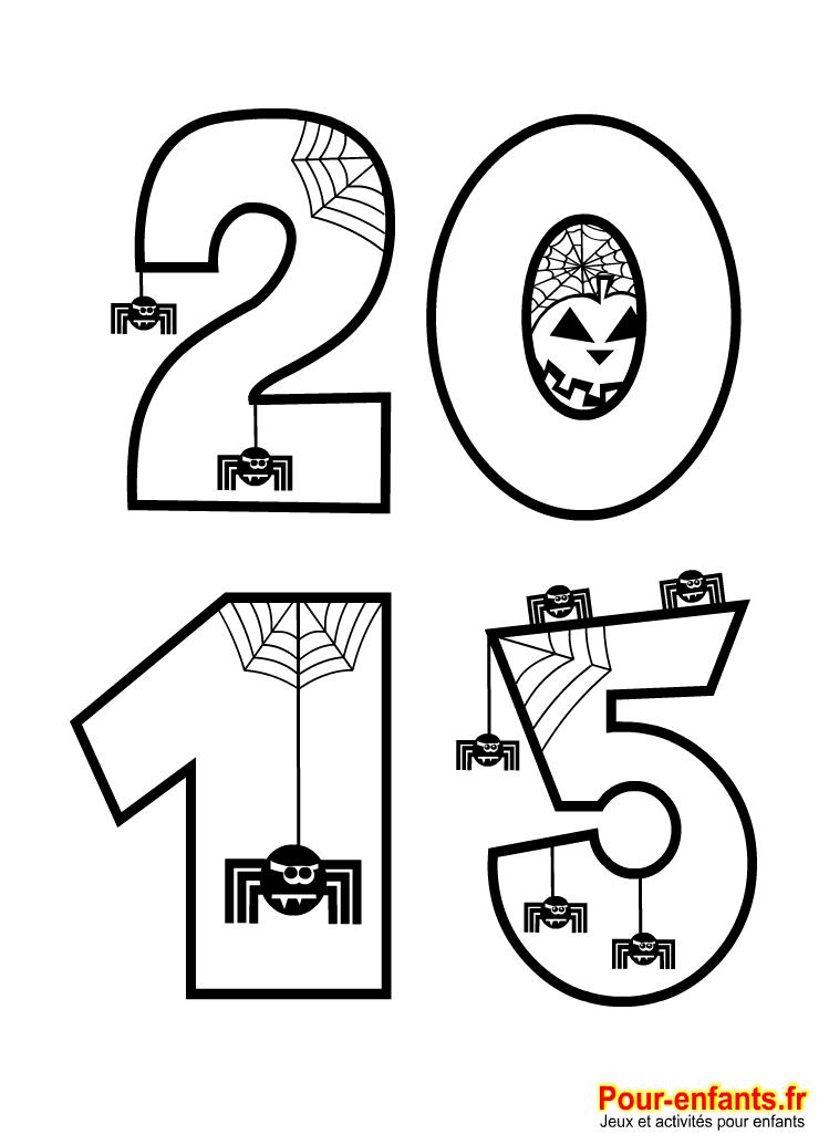 Halloween 2015 imprimer en grand au format a4 avec des dessins d 39 araign es compter pour - Coloriage grand format ...