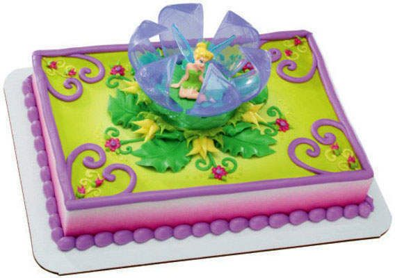 Tinkerbell Cake Decoration Is In Like New Condition Purple Flower Opens Up To See Sitting Very Cute Great For Or Toy