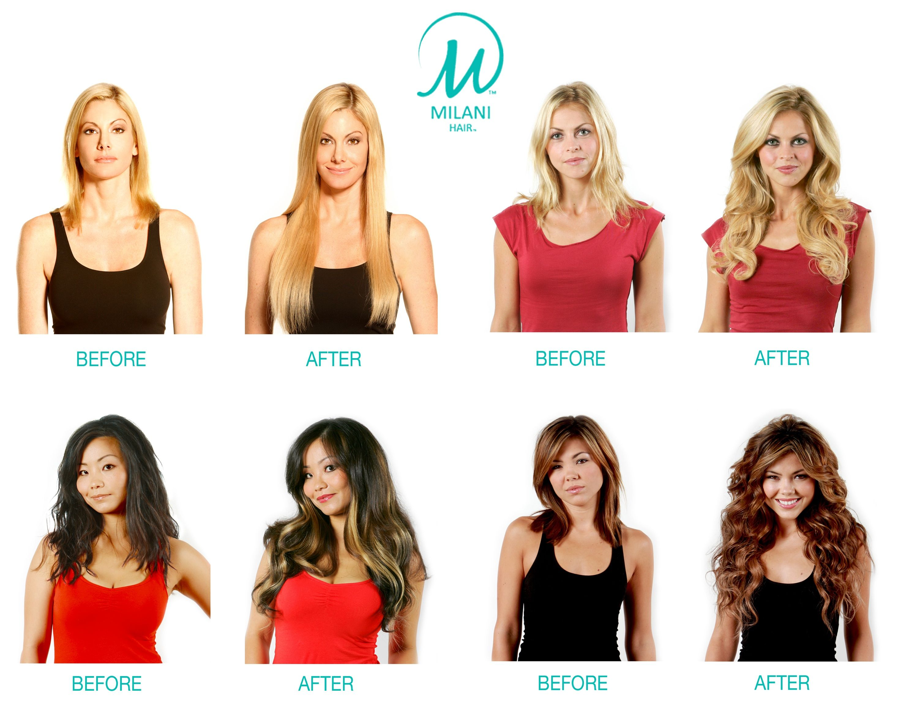 Hair Extensions Before And After In Hair Extensions Before And