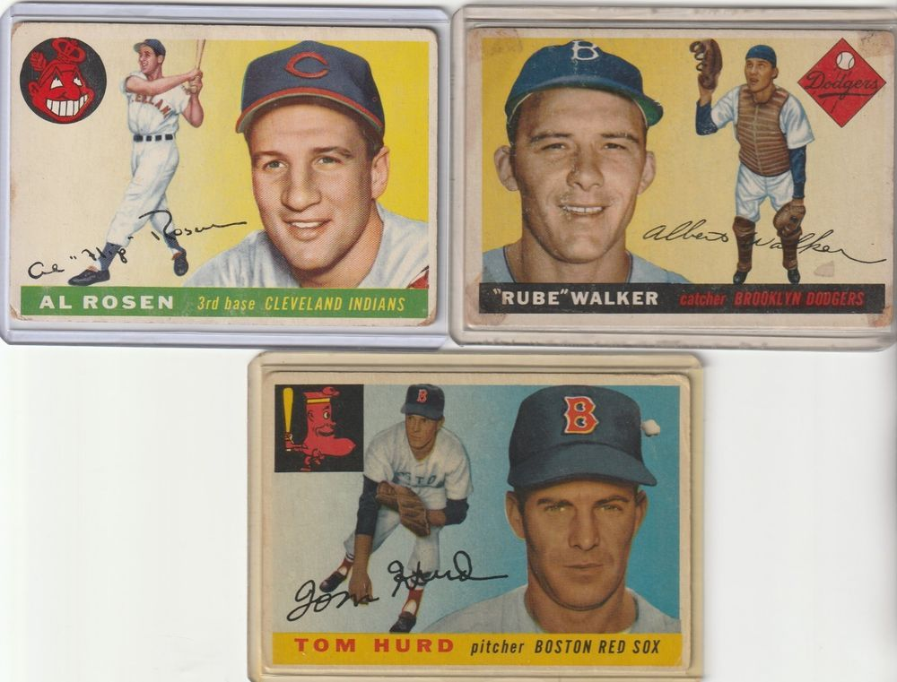 Lot Of 3 1955 Topps Baseball Cards 70108116 Ebay