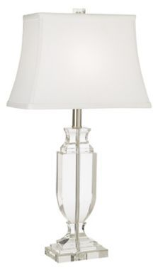 Vienna Full Spectrum Crystal Urn Brushed Steel Table Lamp - #EU29037 - Euro Style Lighting