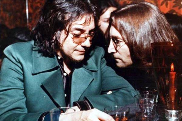 Jim Keltner and John Lennon in 1974.