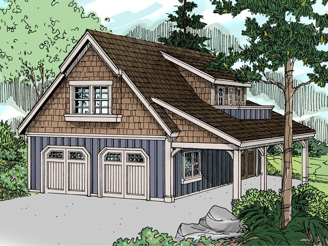 Plan 13060 Just Garage Plans855 sq ft double bay garage with – Just Garage Plans