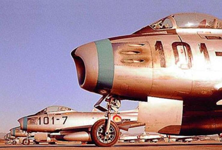 Spanish Air Force North American F-86 Sabers.