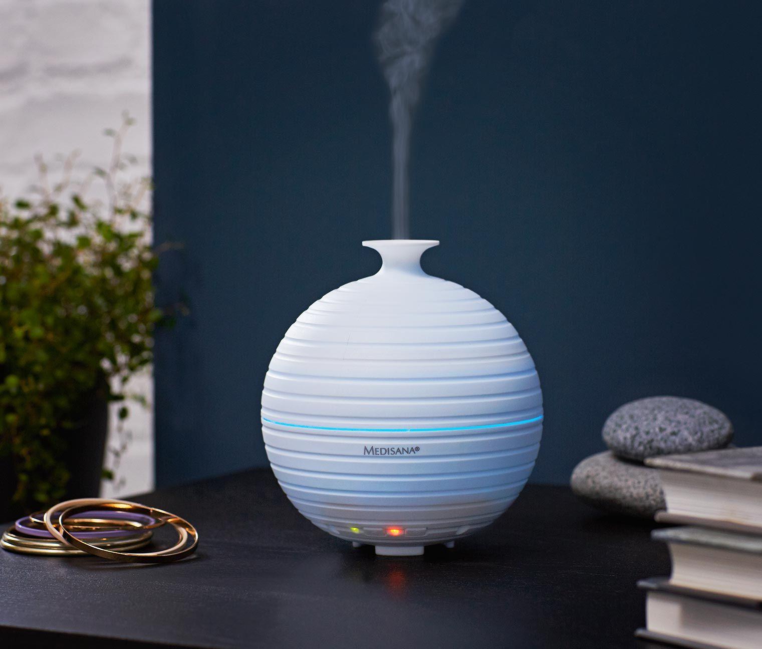 29 95 angenehmer duft im ganzen raum dieser aroma diffusor arbeitet mit ger uscharmer und. Black Bedroom Furniture Sets. Home Design Ideas
