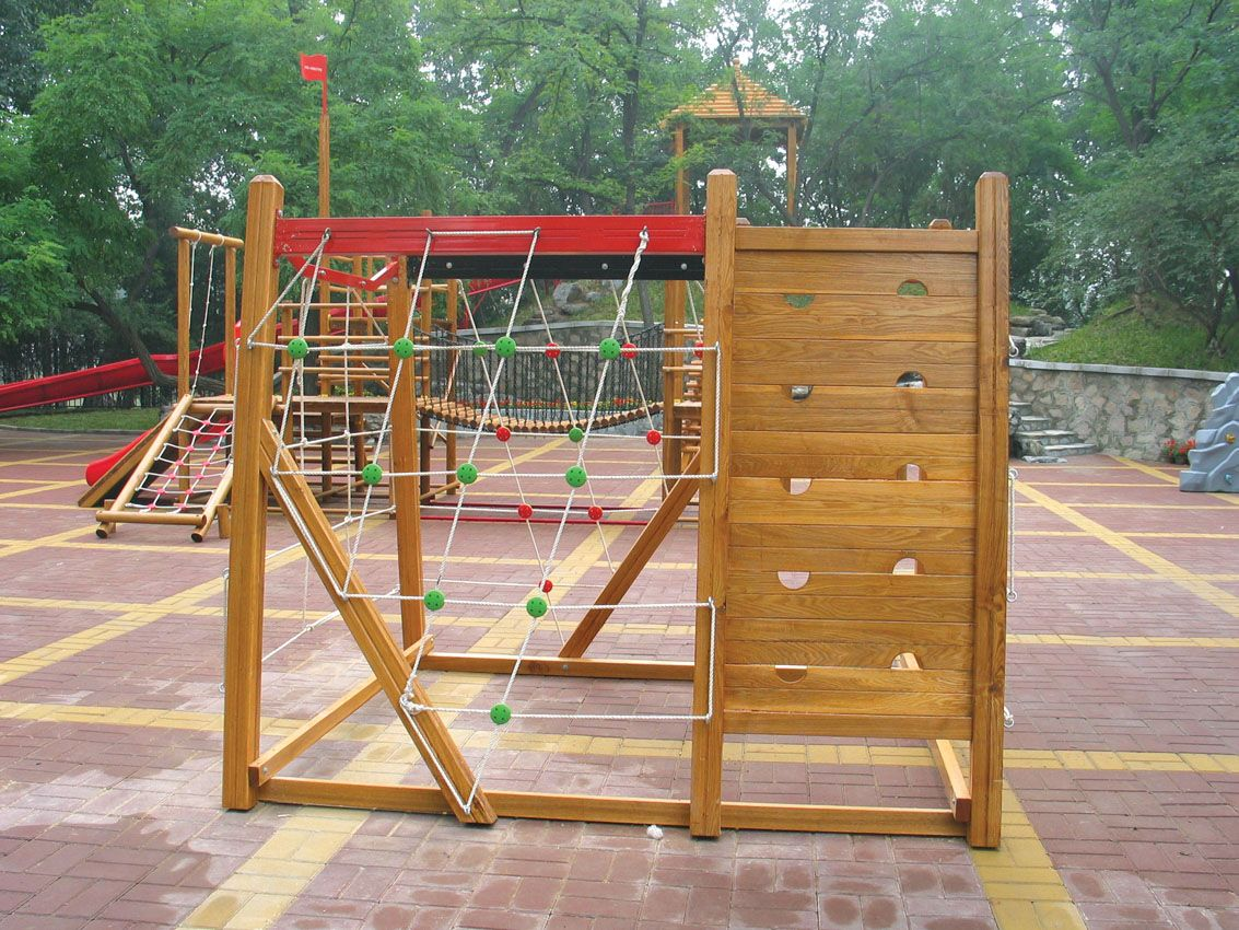 wood playground equipment outdoor wooden climber outdoor wooden