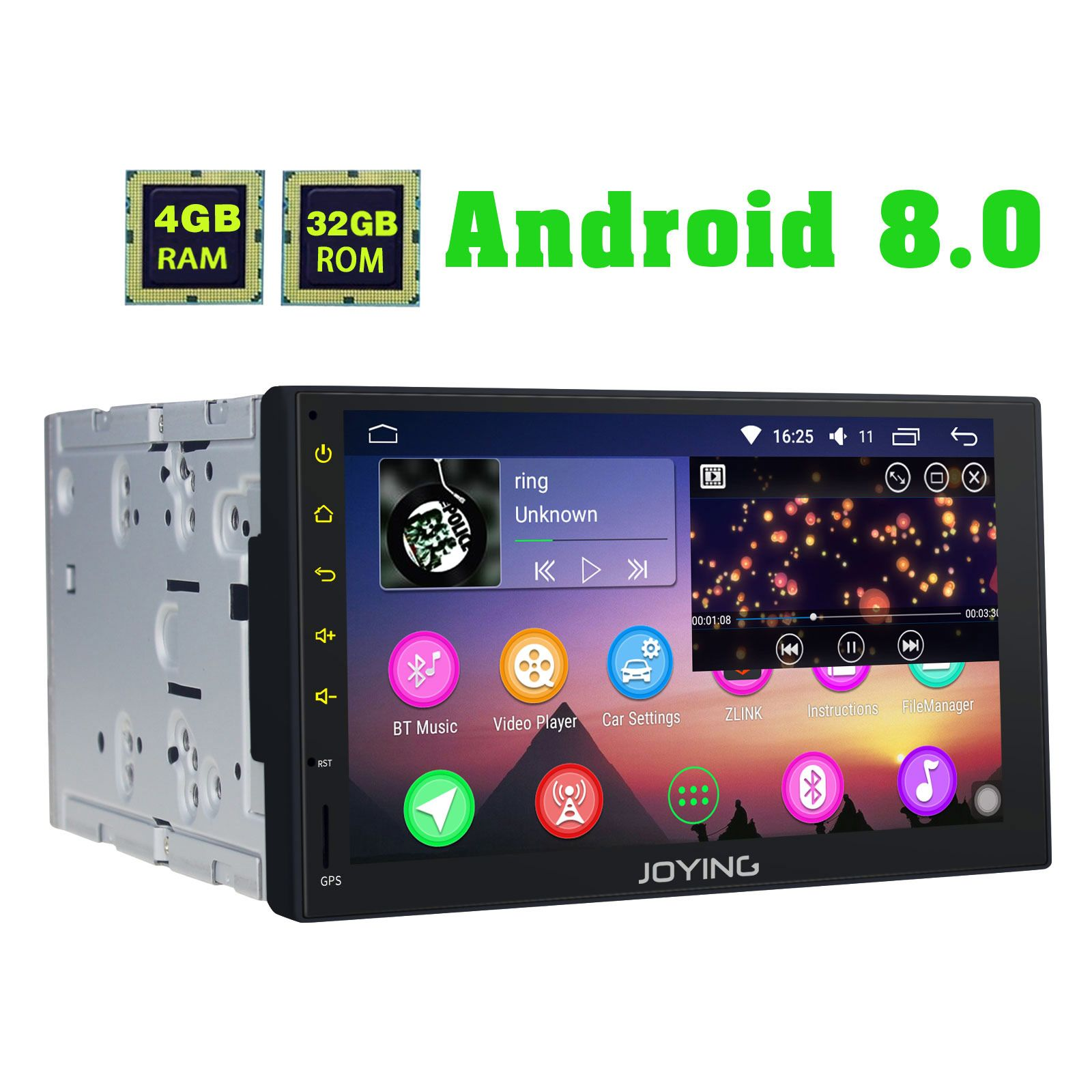Joying Latest 4g Dsp Android 8 1 0 Oreo Radio 2din 7 Inch Car
