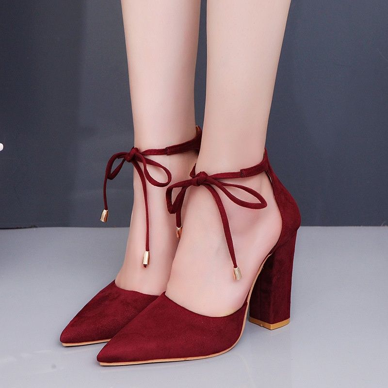 f8fd2751a22 Club Factory | high heels for every girl | Lace up shoes, Suede ...