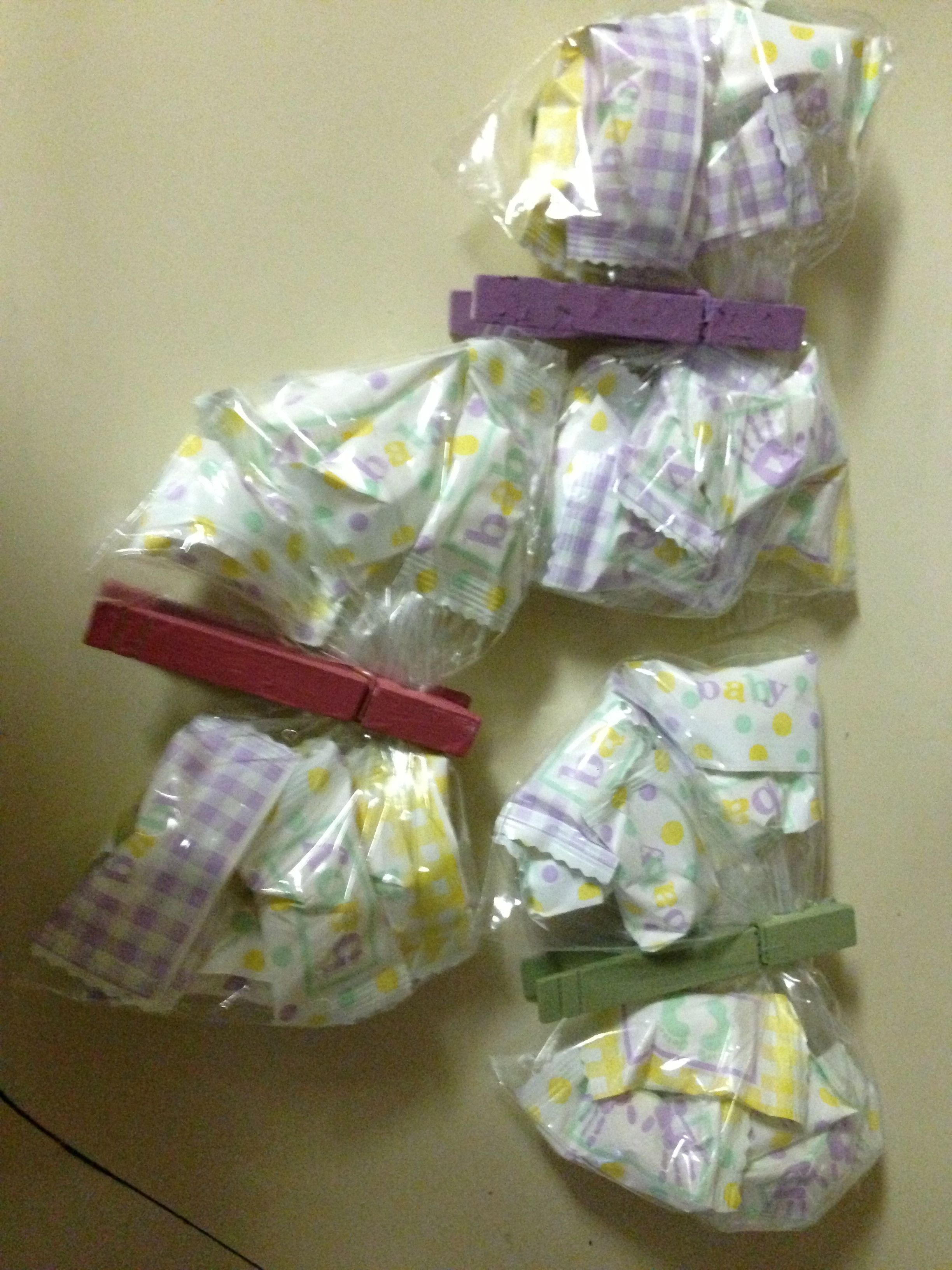 Butterfly clothes pin party favors