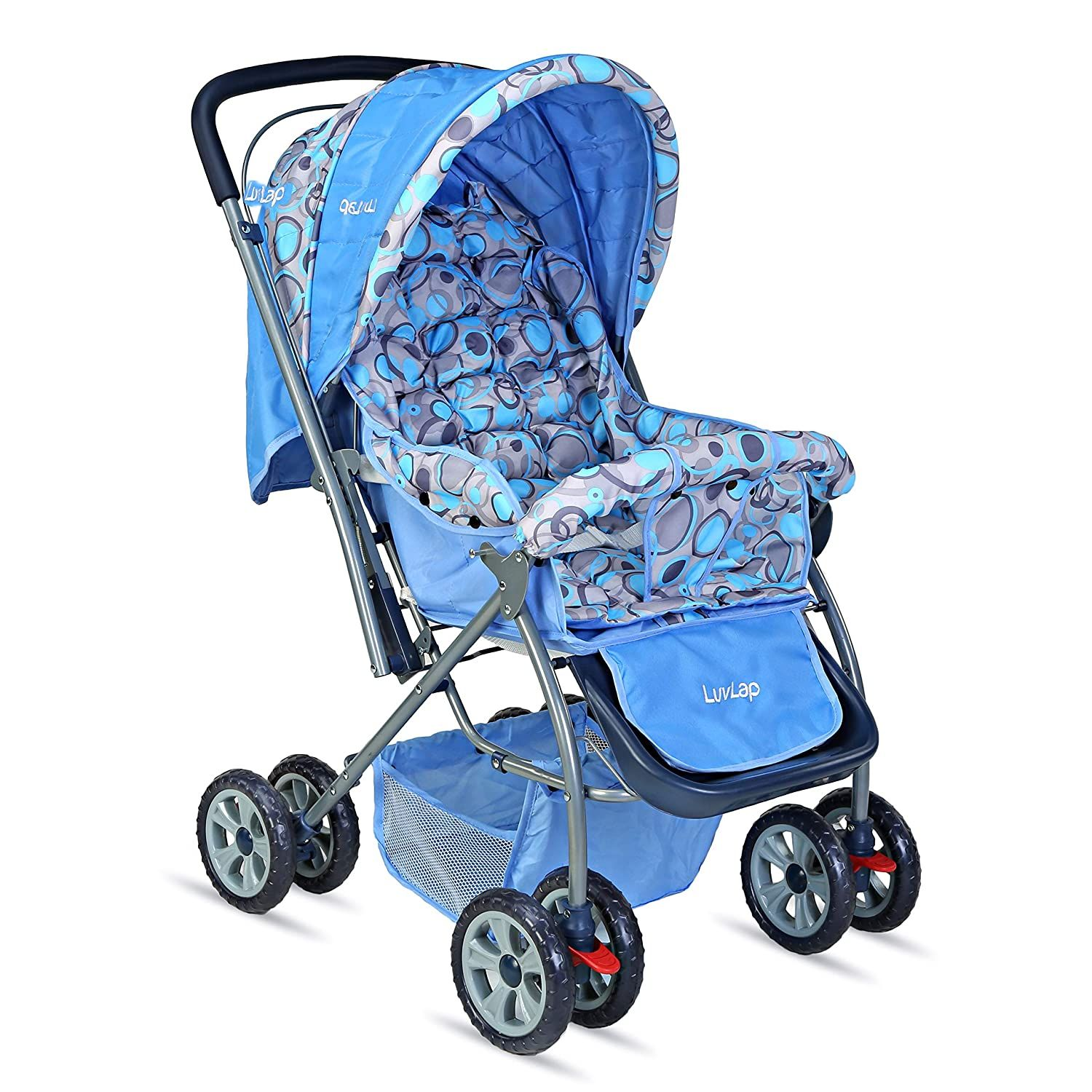 LuvLap Starshine Stroller / Pram, Easy Fold for Newborn