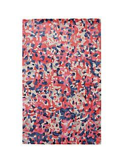splatter paint rug by kate spade new york  might look good next to your hand scraped wood piece due to coloration