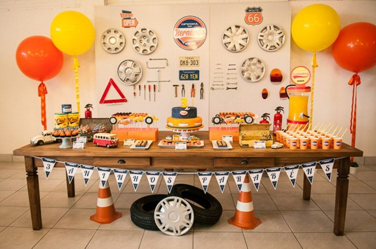 Festa Infantil Vintage car party Hot wheels birthday and Birthdays