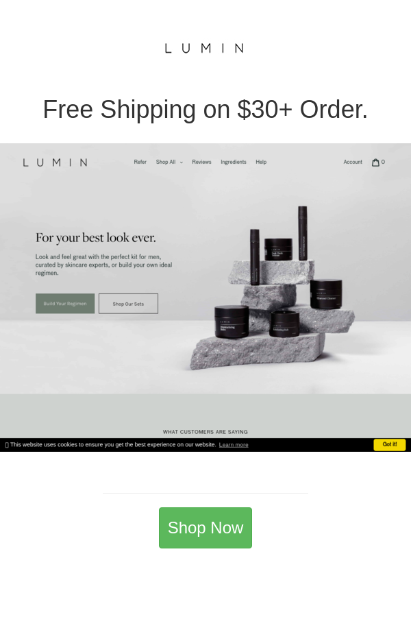 Best Deals And Coupons For Lumin Premium Skincare Skin Care Mens Skin Care