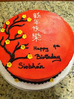 Chinese New Years Theme Birthday Cake For Maggie In 2019