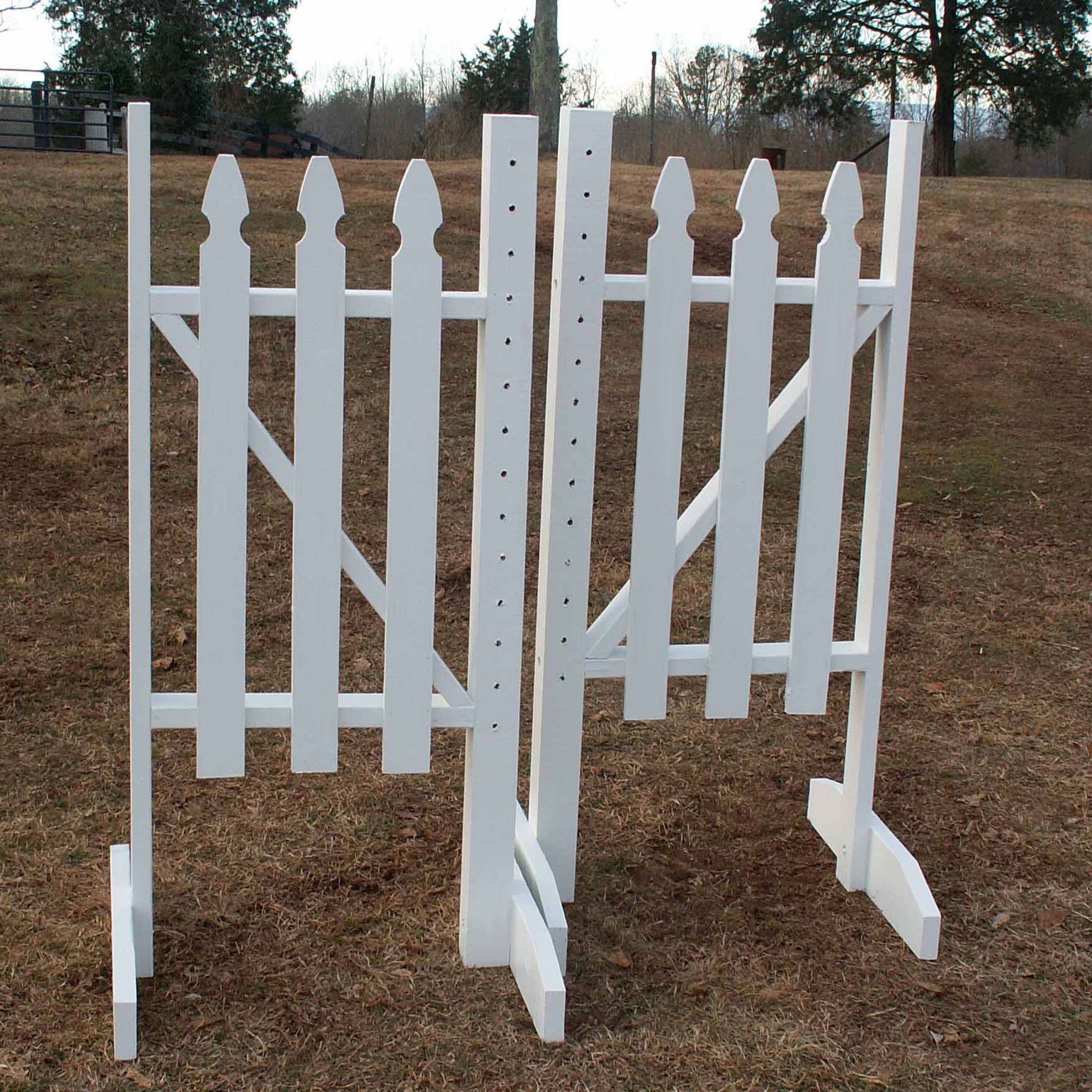 Picket fence wood wing standards horse jumps horse beautiful and functional the picket fence wing standards are available in 5ft or 6ft and made baanklon Images