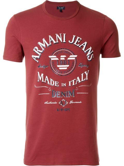 c97db8f22 Armani Jeans Camiseta com logo estampado | Best Shirt Designs in ...