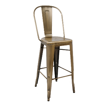 Strange British Brass Finish High Back Tolix Bar Stool Table Base Gmtry Best Dining Table And Chair Ideas Images Gmtryco