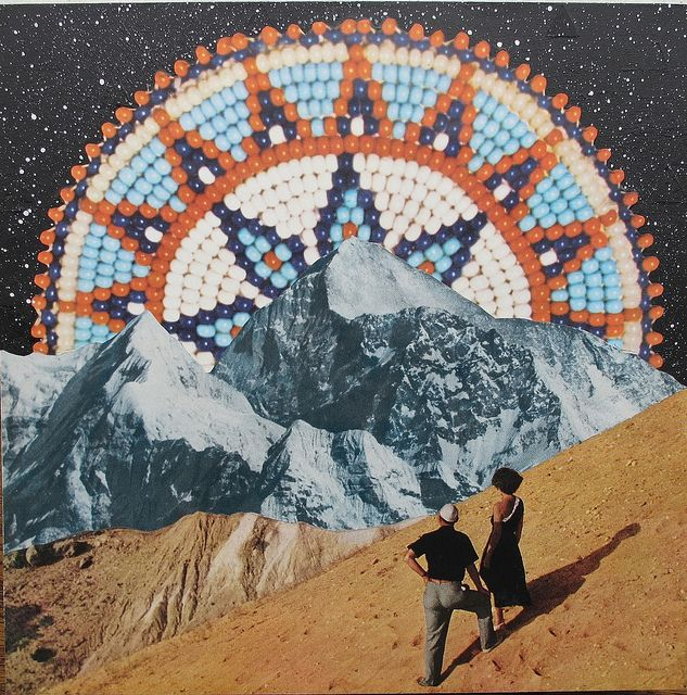 MIXED MEDIA - BETH HOECKEL Indian Summer #Collage