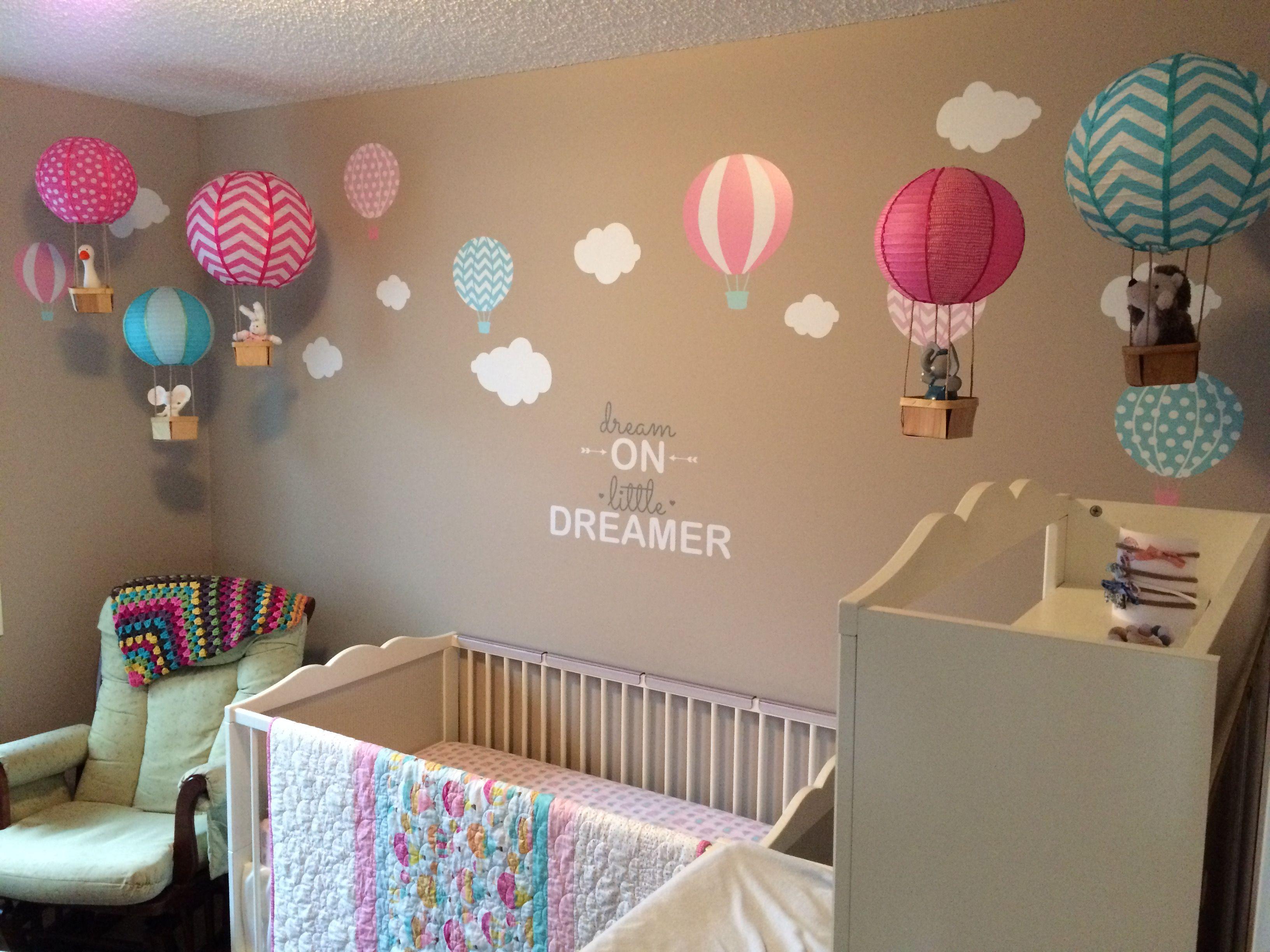 Homemade hot air balloons Hot air balloon nursery decor