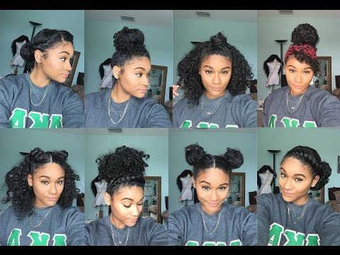 Natural Hair 8 Bun Styles For Curly Hair Youtube Some