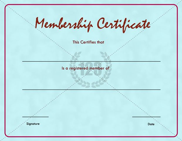 Good Quality Membership Certificate Template Free Download - certificate of attendance template free download